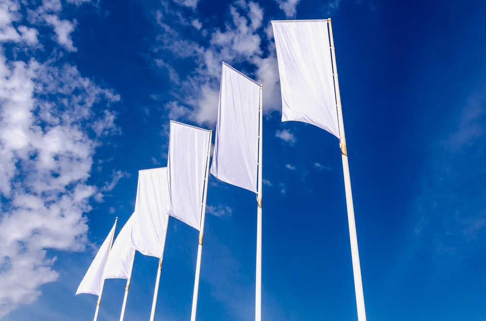 Así trabaja una fábrica de banderas